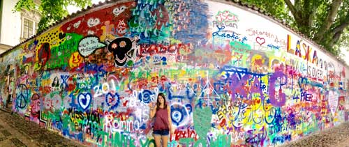Lennon wall with Katelyn
