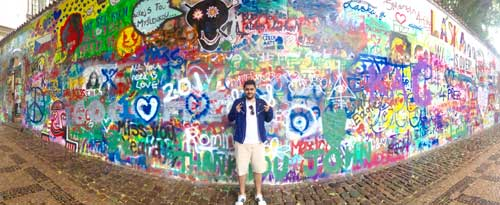 Me at Lennon wall